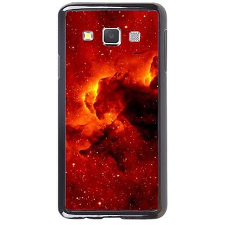 Fuson Designer Phone Back Case Cover Samsung Galaxy A7 ( Clouds Of Orange And Red )