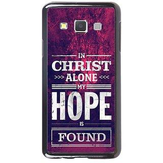 Fuson Designer Phone Back Case Cover Samsung Galaxy A7 ( In Christ I Find Hope )