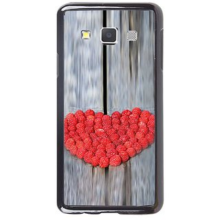Fuson Designer Phone Back Case Cover Samsung Galaxy A7 ( Heart Shape Arrangement Of Berries )