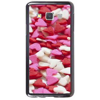 Fuson Designer Phone Back Case Cover Samsung Galaxy A7 ( Little Heart Shaped Things All Over )
