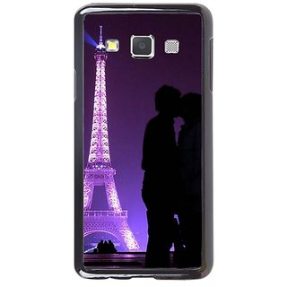 Fuson Designer Phone Back Case Cover Samsung Galaxy A5 ( Couple Kissing By Eiffel Tower )