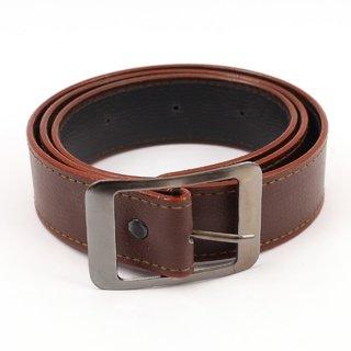 Zakina Black  Brown Leatherite Belt For Men