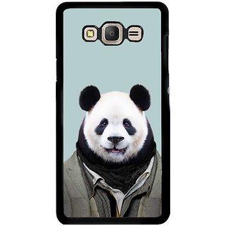 Fuson Designer Phone Back Case Cover Samsung Galaxy E5 ( Panda In Suit )