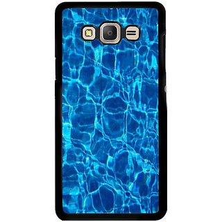 Fuson Designer Phone Back Case Cover Samsung Galaxy E5 ( Blue Water Pattern )