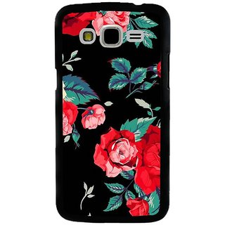 Fuson Designer Phone Back Case Cover Samsung Galaxy J5 ( Red Roses With Leaves )