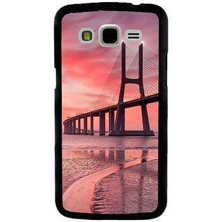 Fuson Designer Phone Back Case Cover Samsung Galaxy J5 ( Beautiful Bridge In Pink Sky )