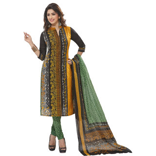 Pari Latest Fancy Multicolor Kurta & Churidar Material Printed Cotton Dress Material (Unstitched)