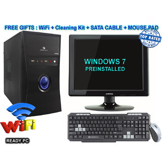 Other C2D/4/160/DVD/15  CORE 2 DUO CPU / 4GB RAM/ 160GB HDD / DVDRW / ATX CABINET WITH 15  LCD DESKTOP PC COMPUTER