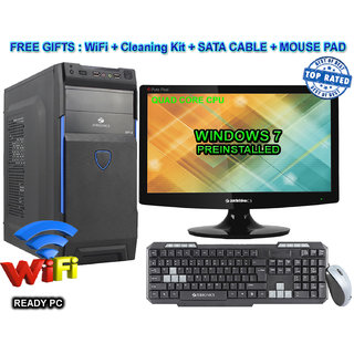 Other QC/4/2GB GFX/2TB/DVD/18  QUAD CORE CPU / 4GB RAM/2 GB GRAPHIC CARD/ 2TB HDD / DVDRW / ATX CABINET WITH 18  LED DESKTOP PC COMPUTER