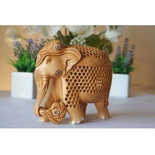 Wooden Handicraft Home Decor Elephant Showpiece