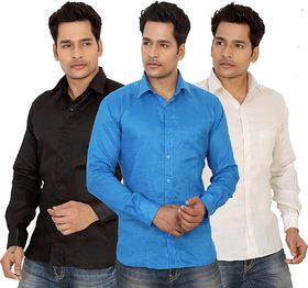 Trustedsnap cotton shirt for men's ( set of 3 )
