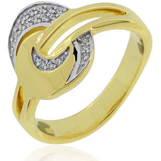 Joal Gold Plated Yellow Sterling Silver Rings For Women