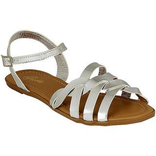 Flora Women's Silver Sandals