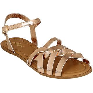 Flora Women's Gold Sandals