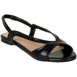 Flora Women's Black Sandals