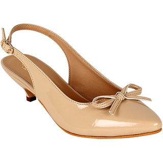 Flora Women Cream Buckle Sandals