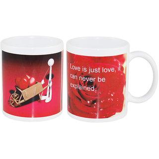 Coffee Mug Love Rose Two Set