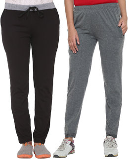 Vimal-Jonney Multicolor Cotton Blended Trackpants For Women(Pack Of 2)