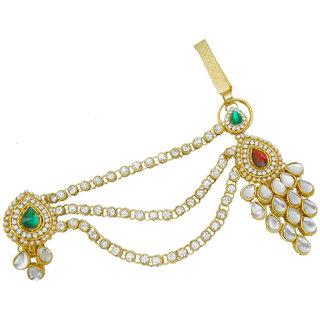 0d242d149 My Design Bridal Wedding Gold Plated Kundan Saree Pin Brooch Juda Kamarband  For Women And Girls