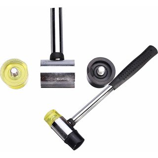 Work 30mm Double Face Soft Tap Rubber Hammer Mallet DIY Leather Tool7