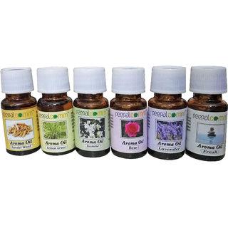 ZARSA Set of 6 Aroma Diffuser Oil of 10ml Each - AromaOil6PC