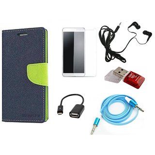Poonam Green Mercury Goospery Fancy Diary Wallet Flip Cover With Handfree,Tempered Glass,AUX Cable,Data Cable,Card Reader For Motorola Moto Z Play