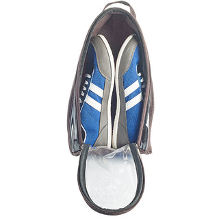 BagsRUs Brown Water Resistant Polyester Travel Shoe Bag with Zip Closure (SH101FBR)