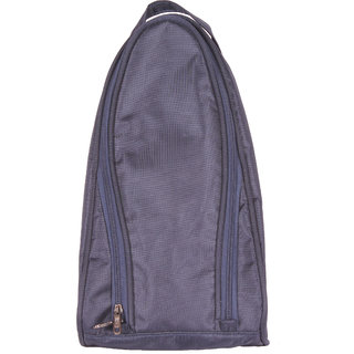BagsRUs Navy Blue Water Resistant Polyester Travel Shoe Bag with Zip Closure (SH101FNB)