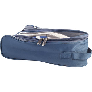 BagsRUs Navy Water Resistant Polyester Travel Shoe Bag with Zip Closure (SH101FNV)