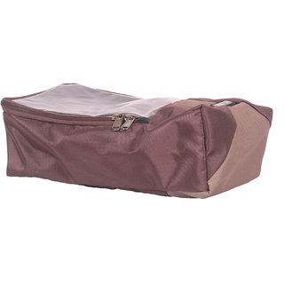 BagsRUs Brown Water Resistant Polyester Travel Shoe Space Saver Bag with Zip Closure (SH102FBW)