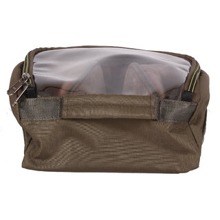BagsRUs Olive Water Resistant Polyester Travel Shoe Space Saver Bag with Zip Closure (SH103FOL)