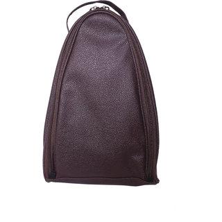 BagsRUs Brown Leatherette Shoe Travel Bag (SH104FBR)