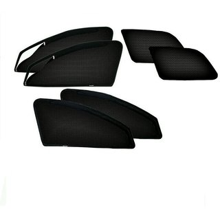 Autohub Black Color Custom Made  Magnetic Sun Shade With Zipper For Chevrolet Sail