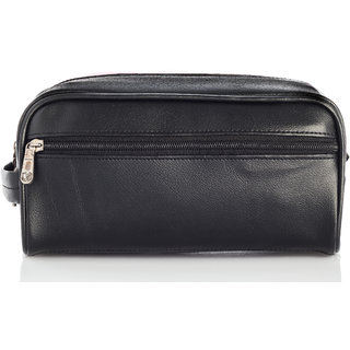 ac720f480abb Buy BagsRUs Black Leatherette Toiletry Organizer Cosmetic Bag Travel Kit Bag  for Men and Women (TK105FBL) Online - Get 49% Off