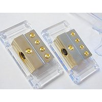 1 In 4 Out Pair Packed Power Distribution Blocks Block