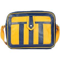 Striped Messenger Bag Color-Blue Dark