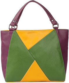 Origami Color Blocked Bag Color-Purple Wine