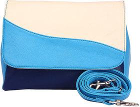 Color Block Messenger Bag Color-Blue Light