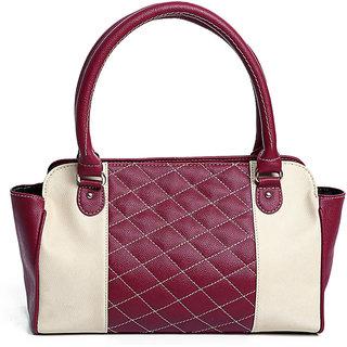 Checkered Pantel Tote Bag Color-Cherry