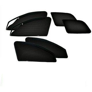 Autohub Black Color Custom Made  Magnetic Sun Shade With Zipper For Tata Safari Dicor