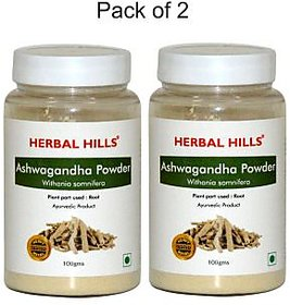 Herbal Hills Ashwagandha Powder - 200 g (Pack of 2)