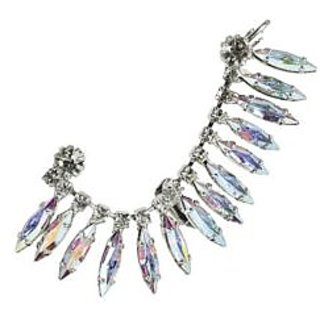 Crystal Feather Statement Ear Cuff (Left Ear)