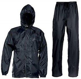 Carpoint Black Plain Windsheeter Rain Coat For Man with Lower