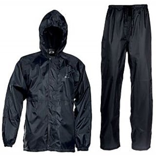Carpoint Black Plain Windsheeter Rain Coat For Man with Lower