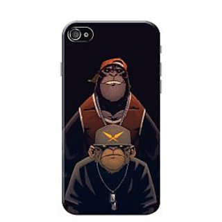 HACHI Cool Case Mobile Cover for Apple iPhone 4