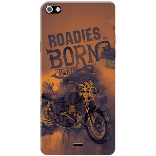 Roadies Hard Case Mobile Cover For Micromax Canvas Sliver 5 Q450