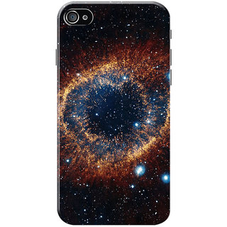 HACHI Beautiful Galaxy Mobile Cover for Apple iPhone 4