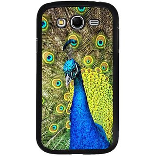 Fuson Designer Phone Back Case Cover Samsung Galaxy Grand 2( Peacock With Vibrant Feathers )