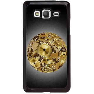 Fuson Designer Phone Back Case Cover Samsung Galaxy Grand Max G720 ( Gold Sphere Made Of Gears )