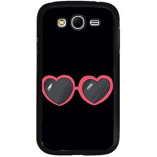 Fuson Designer Phone Back Case Cover Samsung Galaxy Grand 2( Heart Shaped Eye Wear )